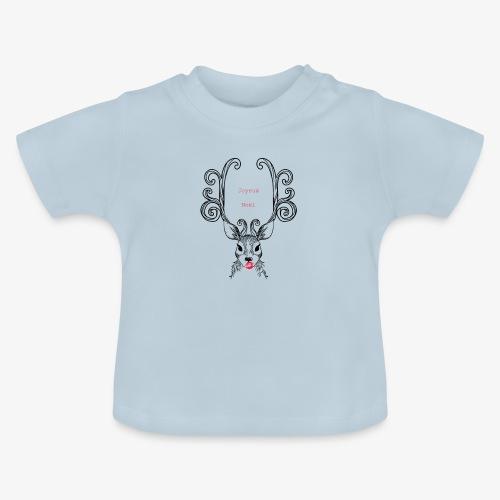 cerf Joyeux Noel - T-shirt Bébé