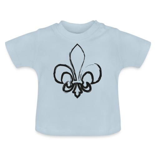 Pinselzeichnung Lilie – Schwarz - Baby T-Shirt