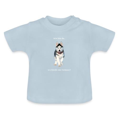 Husky Welpen mit bezaubernden Augen - Baby T-Shirt