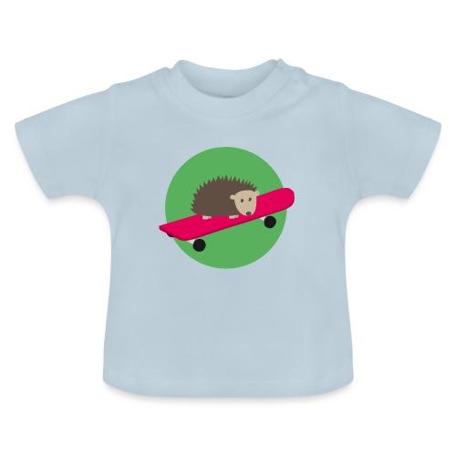 Igel mit Skateboard - Baby T-Shirt