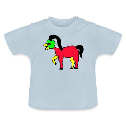 Vogel Pferd Verrückt - Baby T-Shirt