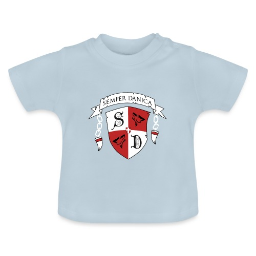 SD logo - hvide lænker - Baby T-shirt