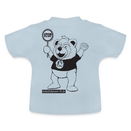 FUPO der Bär. Druckfarbe schwarz - Baby T-Shirt