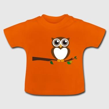 Braune Eule - Baby T-Shirt