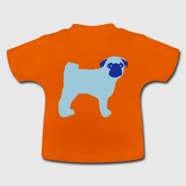 Mops  - Baby-T-skjorte