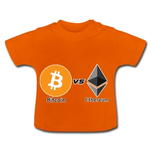Bitcoin vs ethereum withe ok - Baby T-Shirt