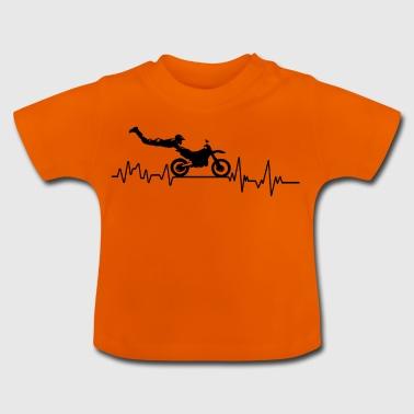 Heartbeat motorcycle race t-shirt gift wheel - Baby T-Shirt
