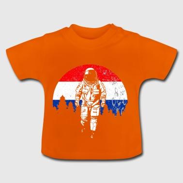 Astronauta Olanda regalo bandiera luna - Maglietta per neonato