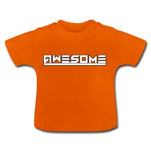 Awesome (White) - Baby T-Shirt