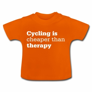 Cycling is therapy - Baby T-Shirt