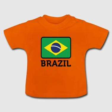 Nasjonal flagg av Brasil - Baby-T-skjorte