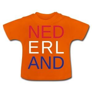 Nederland in de kleuren van de vlag - Baby T-shirt