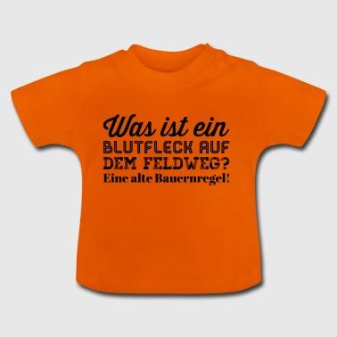 Blutfleck auf dem Feldweg - Baby T-Shirt