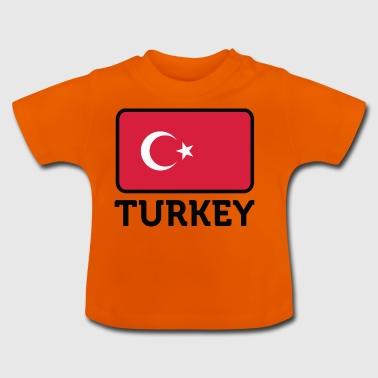 Nasjonal flagg av Tyrkia - Baby-T-skjorte