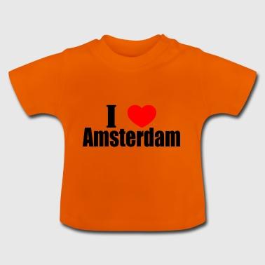 Amo Amsterdam - Maglietta per neonato