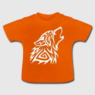 Lobot Tribal Howl White - T-shirt Bébé
