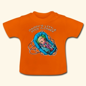 Daddy's little rock climber - baby climber - Baby T-Shirt