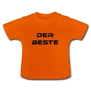 Der Beste schwarz - Baby T-Shirt