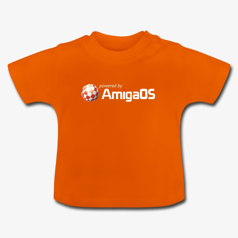 poweredByAmigaOS weiß - Baby T-Shirt