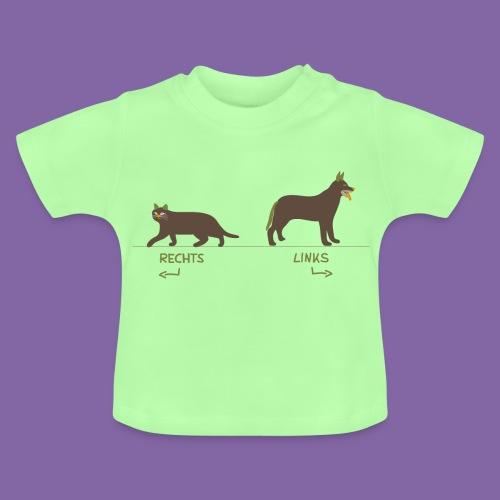 Kinder Kleidung Katze Hund zum Rechts Links lernen - Baby T-Shirt