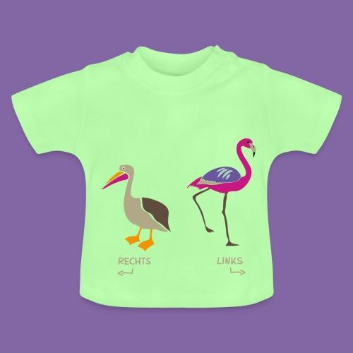 Pelikan und Flamingo zum Rechts Links Lernen - Baby T-Shirt