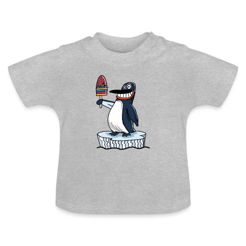 Funny Penguin Icecream Kids Smile: Penguin Ice - Maglietta per neonato