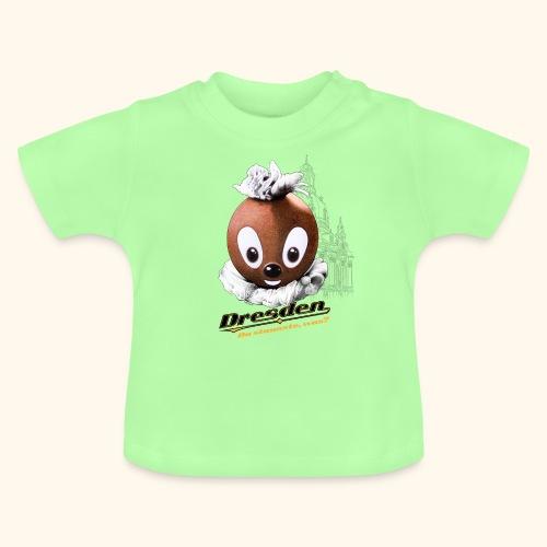 Pittiplatsch 3D Dresden auf hell - Baby T-Shirt