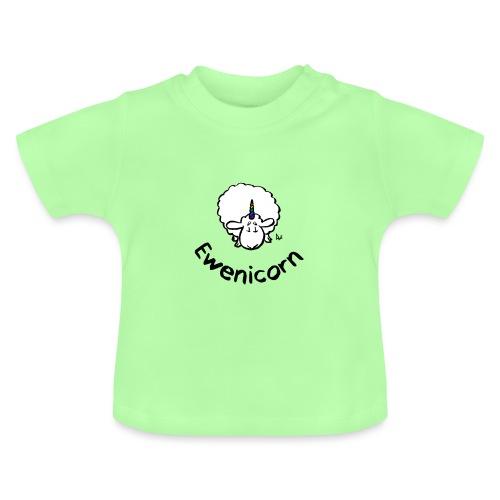 Ewenicorn - it's a rainbow unicorn sheep! (text) - Baby T-Shirt
