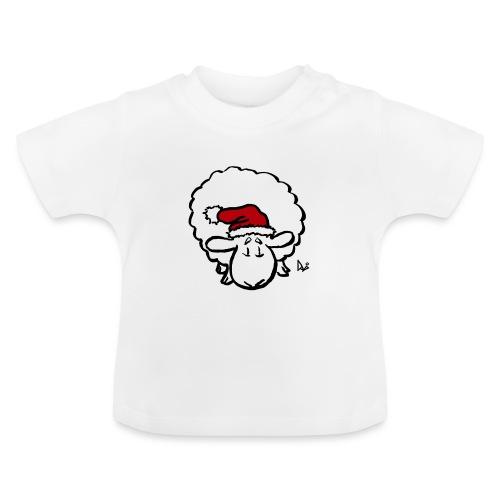 Santa Sheep (red) - Baby T-Shirt
