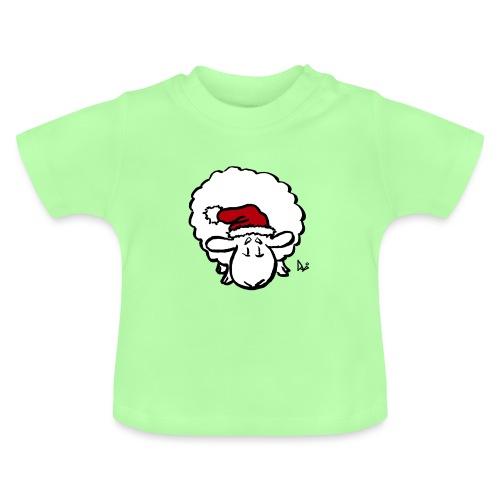 Weihnachtsschaf (rot) - Baby T-Shirt