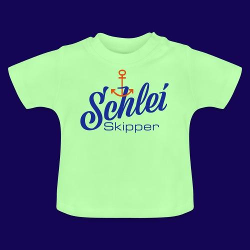 Schlei-Skipper mit Anker - Baby T-Shirt