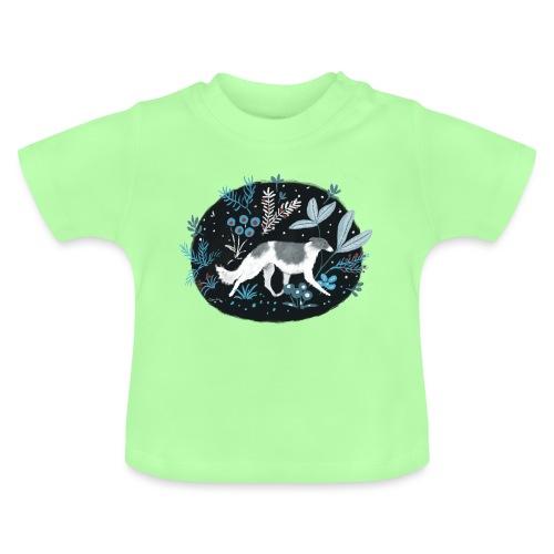 Barsoi im Mitternachtswald - Baby T-Shirt