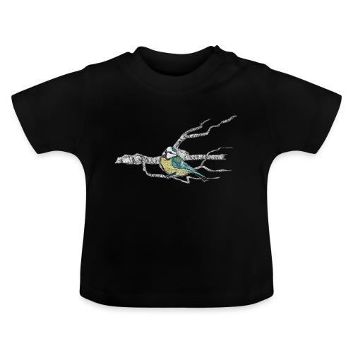 Blaumeise auf Ast - Baby T-Shirt