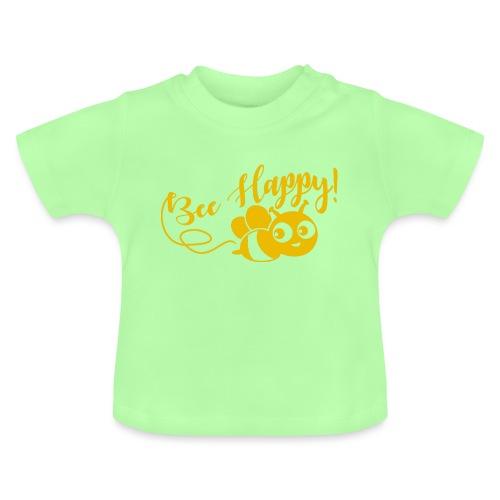 bee happy geel - Baby T-shirt