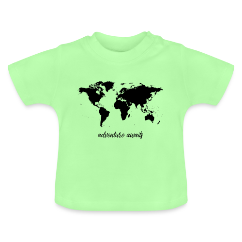 adventure awaits - Weltkarte - Baby T-Shirt