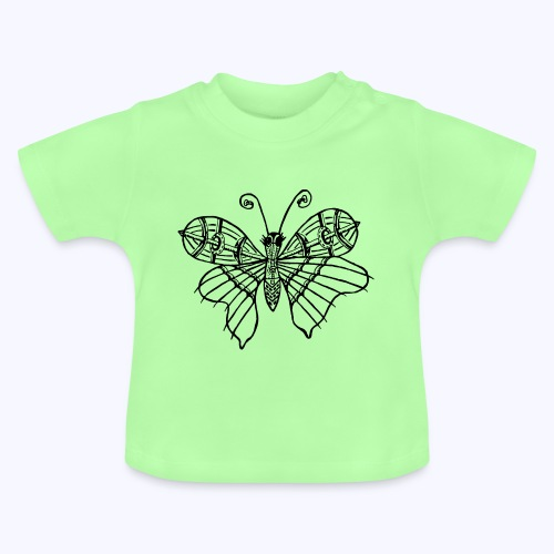 Schmetterling schwarz - Baby T-Shirt