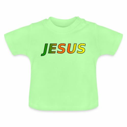 JESUS - grün/orange/gelb - Baby T-Shirt