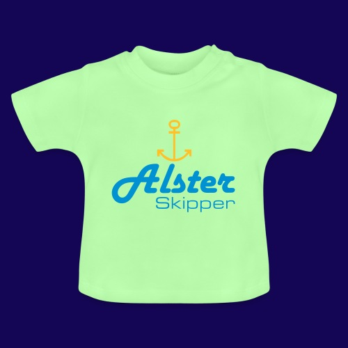 Hamburg maritim: Alster Skipper mit Anker - Baby T-Shirt