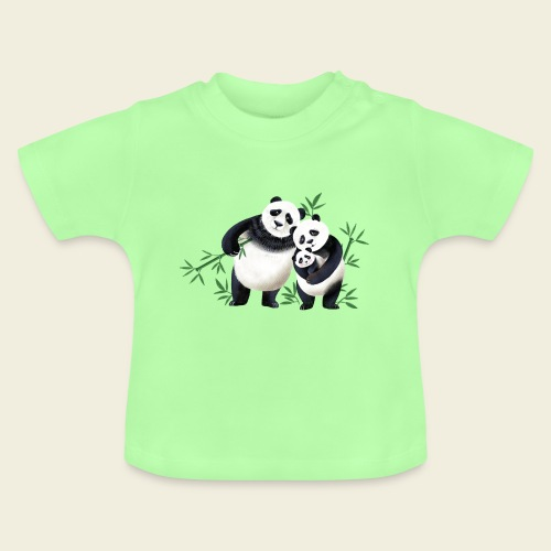 Pandafamilie Baby - Baby T-Shirt