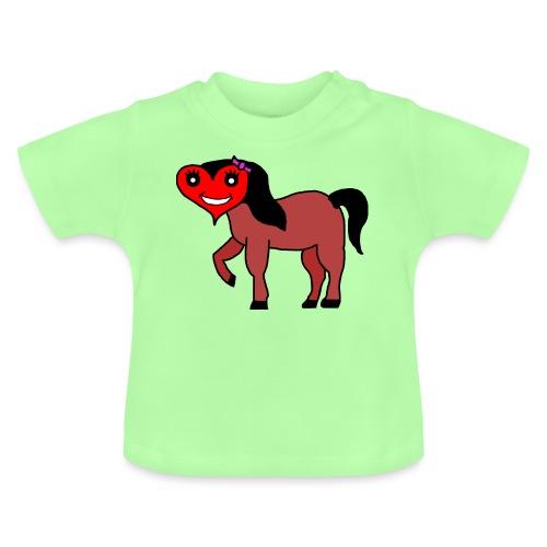 Herz Pferd fohlen - Baby T-Shirt