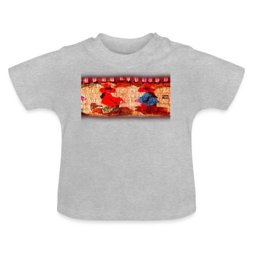 Dos Paisanitas tejiendo telar inca - Baby T-Shirt