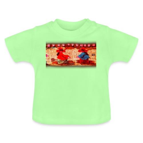 Dos Paisanitas tejiendo telar inca - Camiseta bebé