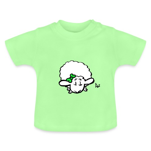 Baby Lamb (green) - Baby T-shirt
