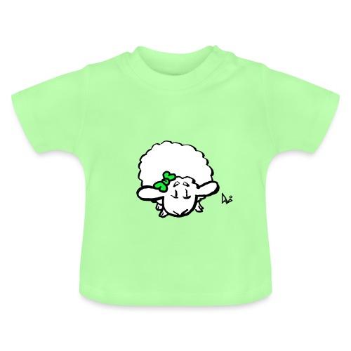 Corderito (verde) - Camiseta bebé