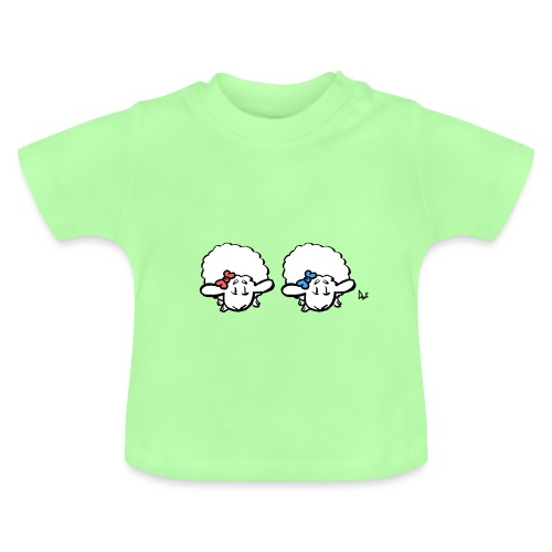 Baby Lamb Twins (rose et bleu) - T-shirt Bébé