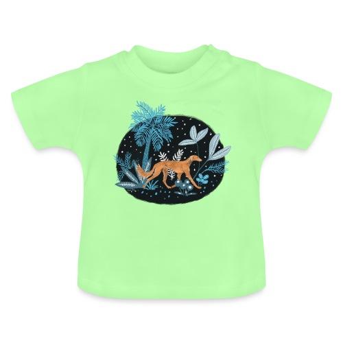 Saluki im Tropenwald - Baby T-Shirt