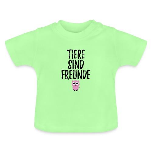 Tiere sind Freunde Piggie Pig - Baby T-Shirt