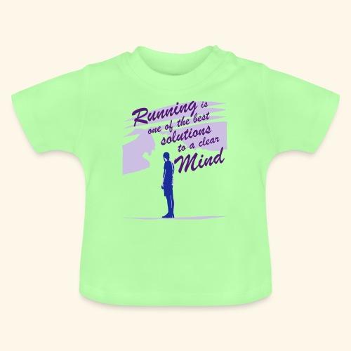 Filosofico - Runnig is one the best solutions - Maglietta per neonato