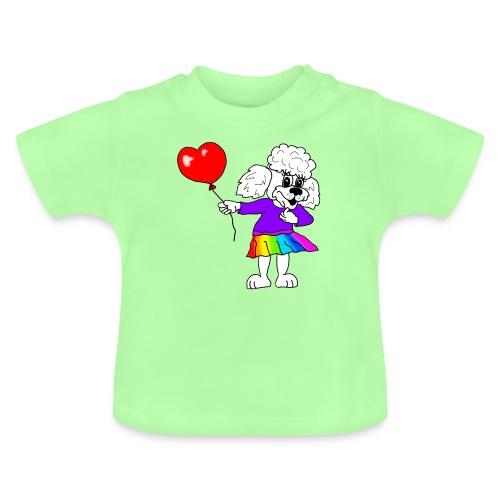Pudelmädchen mit Herz-Luftballon - Baby T-Shirt