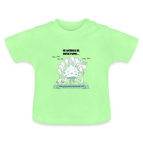 madalenas se acerca el desayuno gif - Camiseta bebé